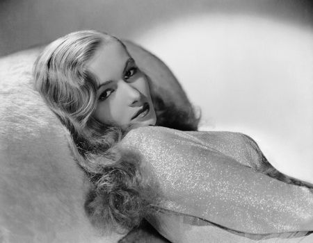 Veronica Lake, 1940s star, famous for her peek-a-boo hair style